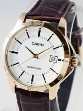 Relojes de pulsera fecha Casio de cuero