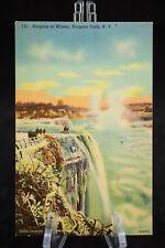 Postcard Niagara Falls In Winter New York NY Linen