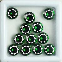 Gemstone Lot Green Garnet 24 Ct Natural African Round Cut AGSL Certified 12 Pcs