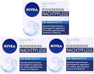 Nivea Visage Regenerating Night Cream (3 x 50ml) For Normal + Combination Skin