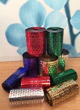 10 x Embossed honeycomb Sequin Foil Mesh & Punchinella rolls kids crafts 50m
