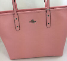 New Coach F57522 Leather City Zip Tote Handbag Purse Shoulder Bag Rose Blush
