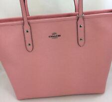 New Coach F57522 Leather City Zip Tote Handbag Purse Shoulder Bag Rose Blush