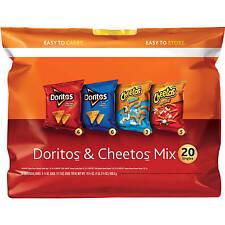 The Doritos & Cheetos Mix Variety Pack 20 Count Cheetos Fritos Doritos Chips