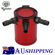 Aluminium Racing Baffled 3-port Oil Catch Can Tank Air-oil Separation RED NEW