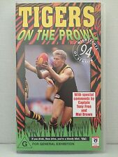 TIGERS ON THE PROWL ~ RICHMOND TIGERS ~ 1994 ~ RARE OFFICAL AFL VHS VIDEO