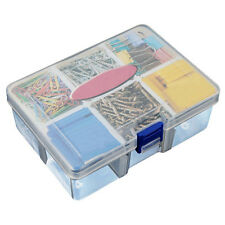 Portable 6 Compartments Plastic Storage Container Organizer Tools Box Case·