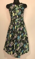 TIMELESS BY VANESSA TONG RETRO 50'S STYLE FLORAL DRESS SIZE 8