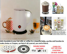 automatic milk frother great with nespresso coffee high volume 1 to 4 cups