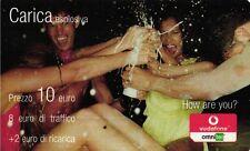 1364 SCHEDA RICARICA USATA VODAFONE ESPLOSIVA 10 31 DIC 2006 OCR 14 CAB 32