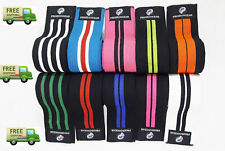WEIGHT LIFTING KNEE WRAPS GYM TRAINING SUPPORT BANDAGES STRAPS