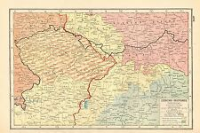 1920 MAP WORLD WAR 1-CZECHO-SLOVAKIA, HISTORICAL