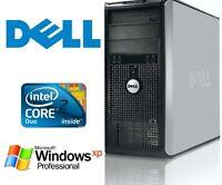 Dell Core 2 Duo Desktop Computer | Windows XP Pro | 4GB | 500GB