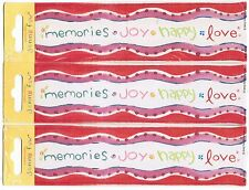 3 packs Jenny Faw Memories Joy Happy Love Border Scrapbook Stickers!