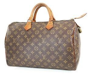 Authentic LOUIS VUITTON Speedy 35 Monogram Boston Handbag Purse #38031