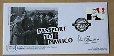 COMEDIANS PASSPORT TO PIMLICO 1998 FDC SIGNED BY THE ACTOR IAN CARMICHAEL