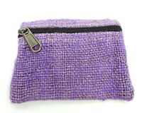 Hemp Coin Purse Light Purple Bag Pouch Credit Card ID Holder Wallet New