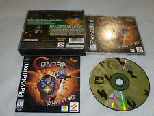 PLAYSTATION PS1 VIDEO GAME CONTRA LEGACY OF WAR W CASE & MANUAL KONAMI RARE SONY