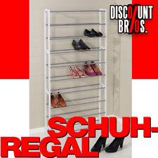 NEU █ Regal SCHUHREGAL für bis zu 40 Paar Schuhe WEISS-GRAU