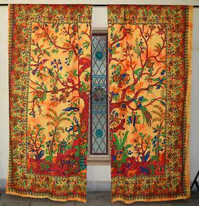 Window Valances Curtain Tree Of Life Tie Dye Home Decor Door Hippie Tapestry Art
