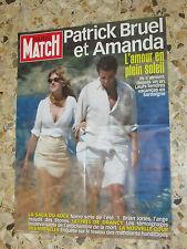 AFFICHE POSTER PUBLICITE PARIS MATCH 2002 PATRICK BRUEL ET AMANDA