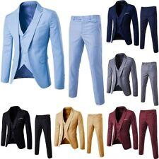 3Piece Mens Suit Slim Fit Suits Blazer Business Wedding Party Jacket Vest Pant A