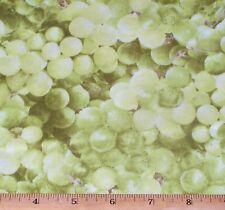 Green Grapes Fabric by Yard RJR 100% Cotton Farmers Market Fruit Food