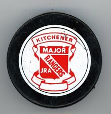VINTAGE FULL SIZE PUCK KITCHENER RANGERS MAJOR JR. A OHL ONTARIO HOCKEY LEAGUE