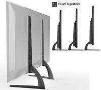 """HTA327 Universal Table Top TV Stand Legs for JVC & LG 37""""-65"""" Height Adjustable"""