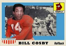 BILL COSBY 55 TEMPLE COLLEGE FOOTBALL ACEO ART CARD ##FREE COMBINED SHIPPING###