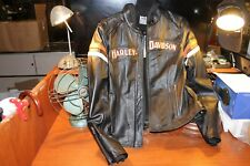 Harley Davidson Women's Miss Enthusiast 3-in-1 Leather Jacket Hoodie / Size L