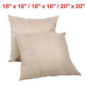 "16""/18""/20"" Square Sublimation Blanks Pillow Case DIY Santa Linen Sofa Car Decor"