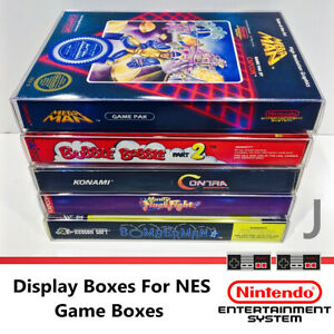 5Pcs Game Cartridge Cover Protector Case NES Games Display Case