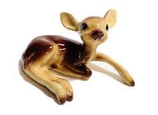 Vintage mini baby deer timer miniature souvenir fawn hourglass figurine 2.5 x 4 inch