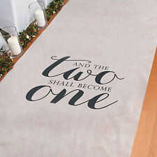 Two Become One Wedding Aisle Runner - Party Decor - 1 Piece