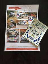 DECALS 1/24 PEUGEOT 206 WRC RICHELMI RALLYE ACROPOLE GRECE 2001 RALLY TAMIYA