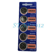 5 Pcs SONY CR2032 CR 2032 3v DL2032 L14 Coin Battery Toy Lamp Scale Battery New