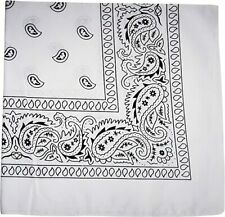 1/2 Dozen (6PC) Bandanas ~ Face Mask Cover ~ Handkerchief ~ Bandanna White