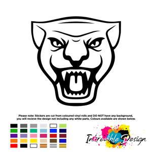 Jaguar face logo Badge Vinyl Sticker Mirror Car XE XF XK X F I E S TYPE PACE 6cm