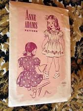 4680 1940s WWII Girl's Dress or Housecoat Pattern Anne Adams Sewing Pattern Sz 4