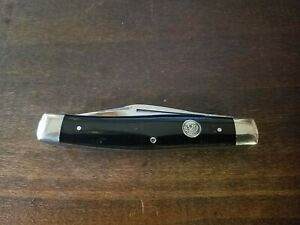 Vintage C Risner Indian Head Solingen Germany Stockman 3 Blade Knife Near Mint