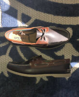 Sperry Top-Sider Men's 2-Eye Boat Shoes Casual Amaretto Leather Loafers Size 12M