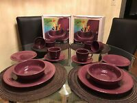 2 Sets Of Retired Color Heather Genuine Fiestaware