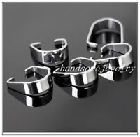 500pcs Silver Jewelry Stainless Steel Pendant Pinch Clip Clasp Bail Connector