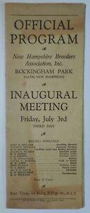 1931 Rockingham Park New Hampshire Third Day Horse Racing Official Program