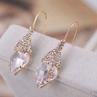Alexis Bittar Pave Swarovski Crystal French Hook Gold Plated Drop Earrings