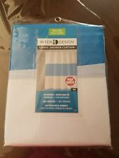 InterDesign Mildew-Free Water-Repellent Zeno Fabric Shower Curtain, 72-Inch By