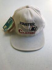 Vintage Starter Large Logo The Classic Snapback Hat Cap White Strap Back NOS
