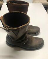 Vintage Gokey Leather Boots Biker Motorcycle Mens Engineer Botte Sauvage 8D 670