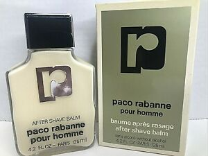 Paco Rabanne Pour Homme 125ml 4.2oz Vintage After Shave Balm Made in France